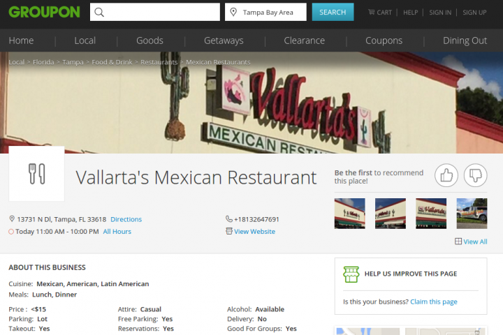 Vallartas mexican restaurant